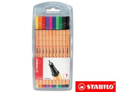 MARKERS STABILO POINT 88 SET 10 COLOURS